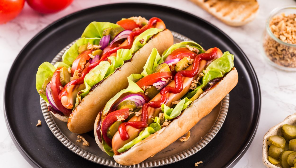 hot dog z grilla