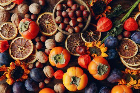 orzechy, dynie, jabłka, jesienne skarby, skarby jesieni